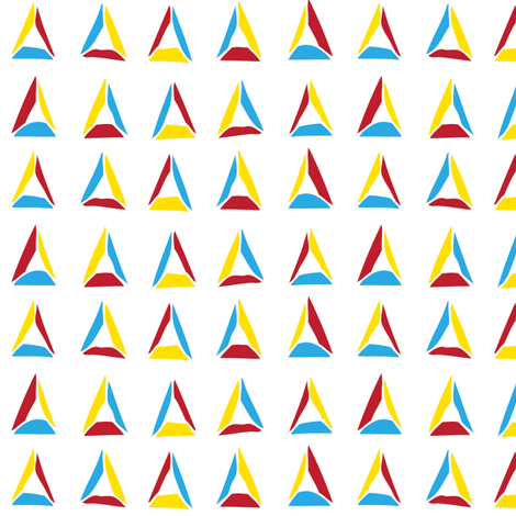 Happy Triangles (primary) fabric by wildflowerbee on Spoonflower - custom fabric