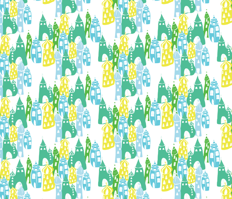 Cityscape_Baghdad_CW2 fabric by blueberry_ash on Spoonflower - custom fabric