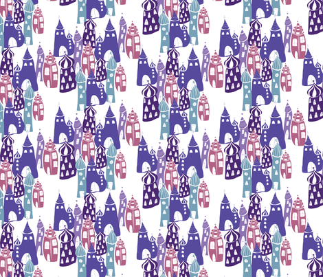 Cityscape_Baghdad_CW4 fabric by blueberry_ash on Spoonflower - custom fabric