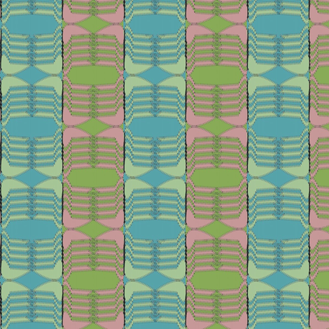 Ski Hat (Periwinkle and Lime) fabric by david_kent_collections on Spoonflower - custom fabric