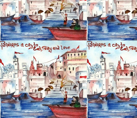 banaras fabric by risha on Spoonflower - custom fabric