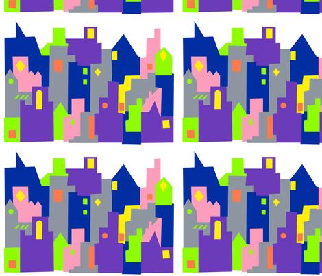 Dublin Cityscape fabric by katiebw on Spoonflower - custom fabric