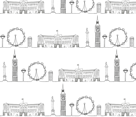 London_Cityscape fabric by hlbyatt on Spoonflower - custom fabric