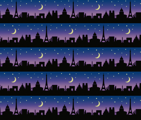 paris nights fabric by littlerhodydesign on Spoonflower - custom fabric