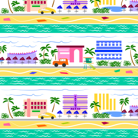 South Beach Deco fabric by dianne_annelli on Spoonflower - custom fabric