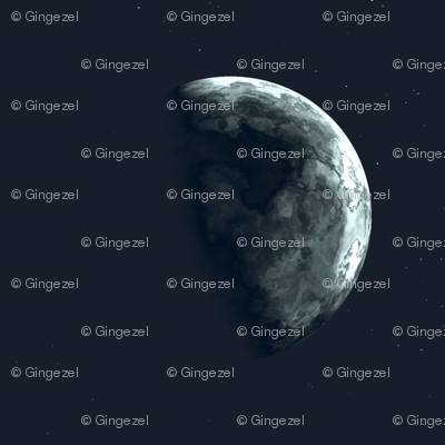 Alien Moon in Black © Gingezel 2012