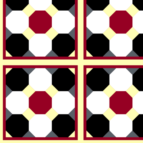Octagon Tiles fabric by pond_ripple on Spoonflower - custom fabric