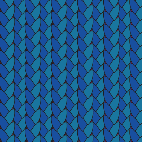 Ponytail Blue fabric by david_kent_collections on Spoonflower - custom fabric