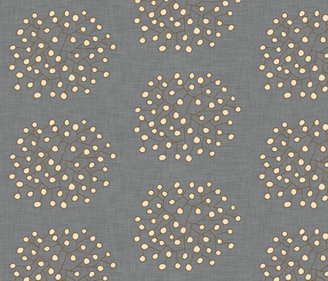 southwest_shrubs_denim fabric by holli_zollinger on Spoonflower - custom fabric