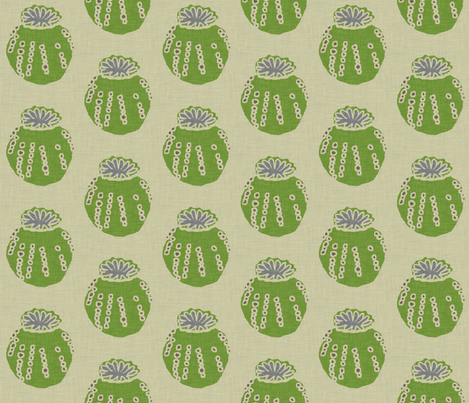 poppy_pod_large_linen fabric by holli_zollinger on Spoonflower - custom fabric