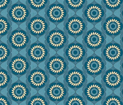gloriosa_indigo_linen fabric by holli_zollinger on Spoonflower - custom fabric