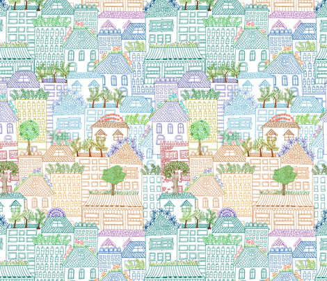 rooftop gardens of San Francisco fabric by jeannemcgee on Spoonflower - custom fabric