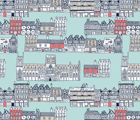 dreaming of york in tudor fabric by babysisterrae on Spoonflower - custom fabric