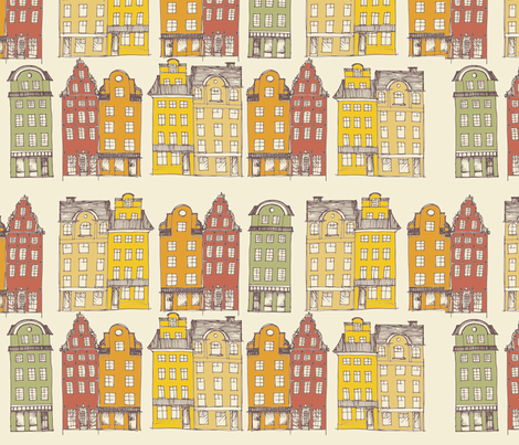 OldTownStockholm fabric by mrshervi on Spoonflower - custom fabric
