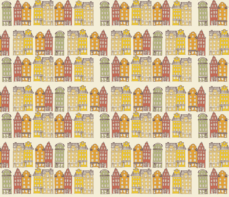 Old Town Stockholm fabric by mrshervi on Spoonflower - custom fabric