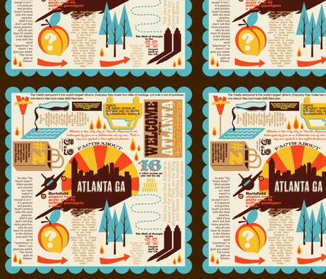 Atlanta Fun Facts fabric by thirdhalfstudios on Spoonflower - custom fabric