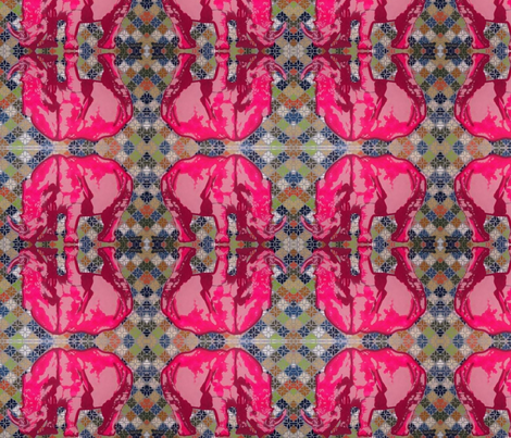 pink rhino fabric by 2reneevk on Spoonflower - custom fabric