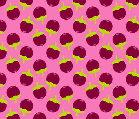 Whole Mangosteens (Small) fabric by nekineko on Spoonflower - custom fabric
