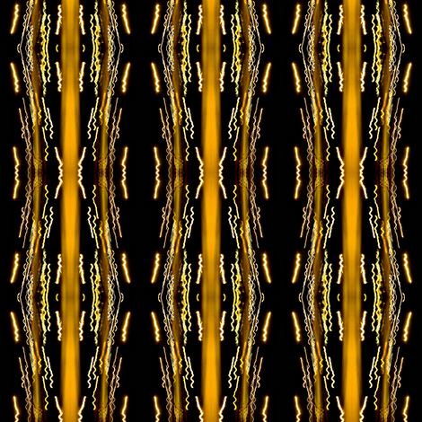 Light Squiggles on Black-ed-ed fabric by glennis on Spoonflower - custom fabric