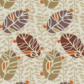 Neutral Oval Vines
