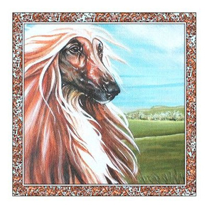 gold_ afghan hound quilt swatch