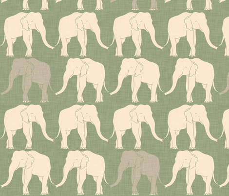 elephants_light_green fabric by holli_zollinger on Spoonflower - custom fabric