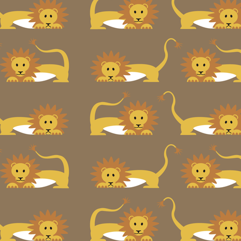 Lion_pattern fabric by studioformo on Spoonflower - custom fabric