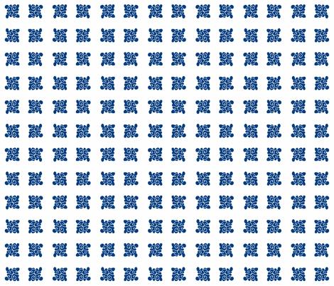 cloud design dark blue on white fabric by bad_penny on Spoonflower - custom fabric