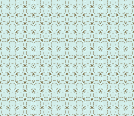 Daisy blue fabric by melissamarie on Spoonflower - custom fabric