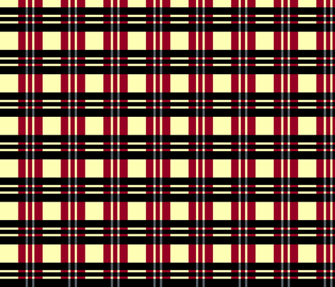 Red Stormy Plaid fabric by pond_ripple on Spoonflower - custom fabric