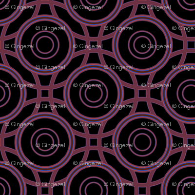 Black and red interlocking circles © Gingezel™ 2012