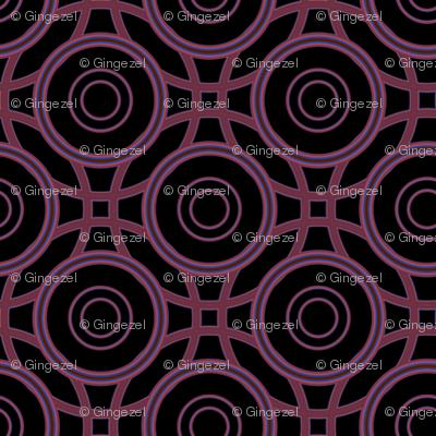Black and red interlocking circles © Gingezel™ 2012