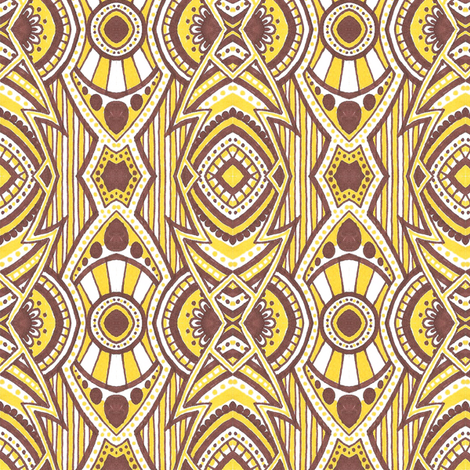Banana Cream Big Band fabric by siya on Spoonflower - custom fabric