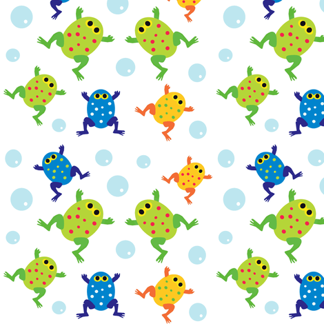 Frog Pond fabric by amy_frances_designs on Spoonflower - custom fabric
