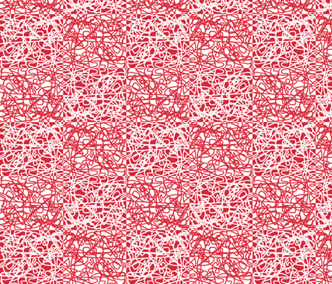 Checkered random rope: red and white fabric by su_g on Spoonflower - custom fabric