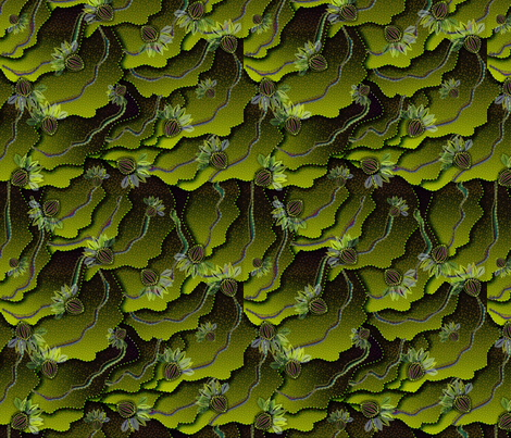 organic floral 1500 kiwi berry fabric by glimmericks on Spoonflower - custom fabric
