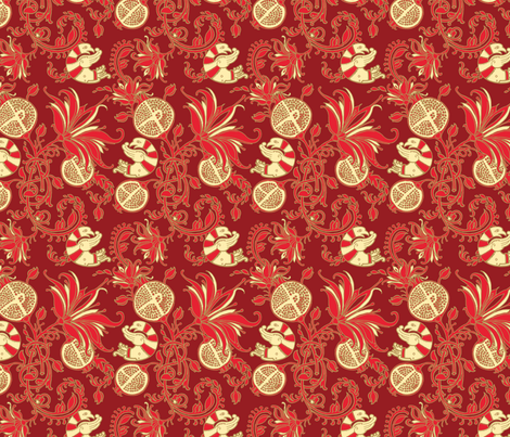 Floral fabric by kunjut on Spoonflower - custom fabric