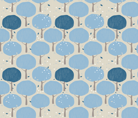Raintree fabric by kunjut on Spoonflower - custom fabric