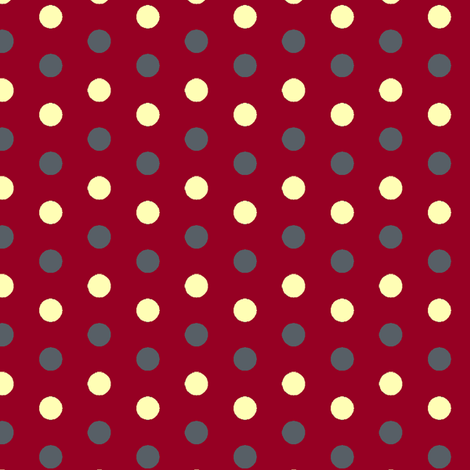 Red Stormy dots fabric by pond_ripple on Spoonflower - custom fabric