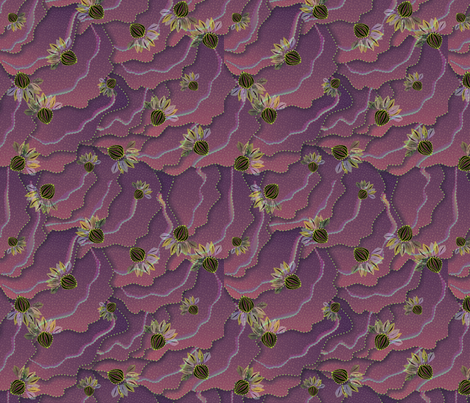 organic_floral1500 raspberry fabric by glimmericks on Spoonflower - custom fabric