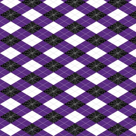 Spiderweb Argyle fabric by pi-ratical on Spoonflower - custom fabric
