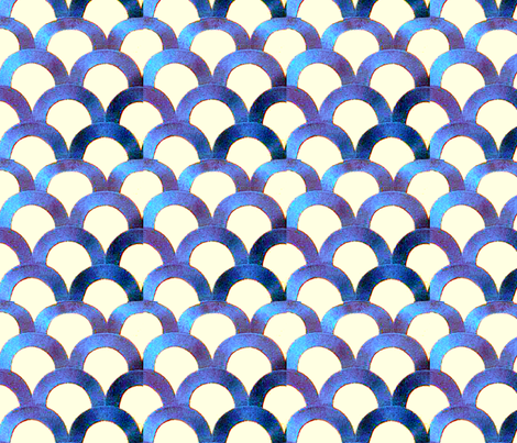 Art Deco Fish Scales fabric by nerwen on Spoonflower - custom fabric