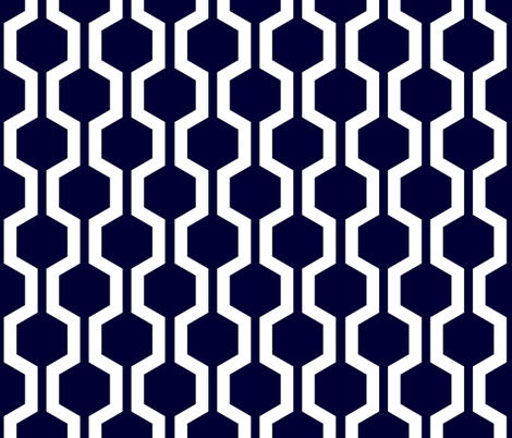 ABP navy lattice fabric by amybethunephotography on Spoonflower - custom fabric