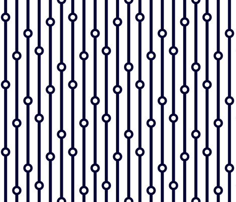 ABP navy beaded curtain fabric by amybethunephotography on Spoonflower - custom fabric