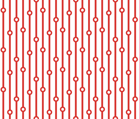 ABP scarlet beaded curtain fabric by amybethunephotography on Spoonflower - custom fabric