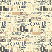 Antique Owl Typography