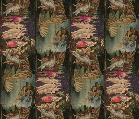 Botticelli Birth of Venus and Primavera  fabric by peacoquettedesigns on Spoonflower - custom fabric