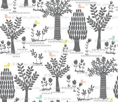 Forest trees & birdies
