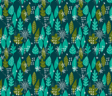 forest leaves fabric by bethan_janine on Spoonflower - custom fabric