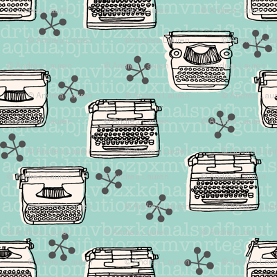 Typewriter - Pale Turquoise/Champagne